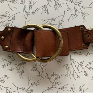 Michael Kors   leather and chain belt